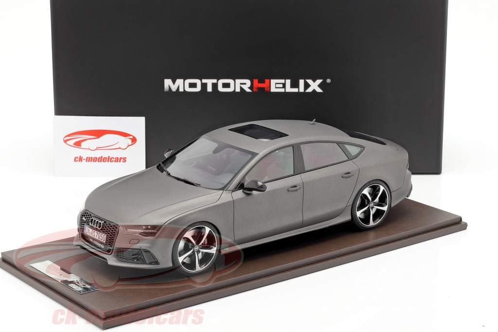 Audi RS7 Sportback Performance year 2016 matt grey 1:18 MotorHelix