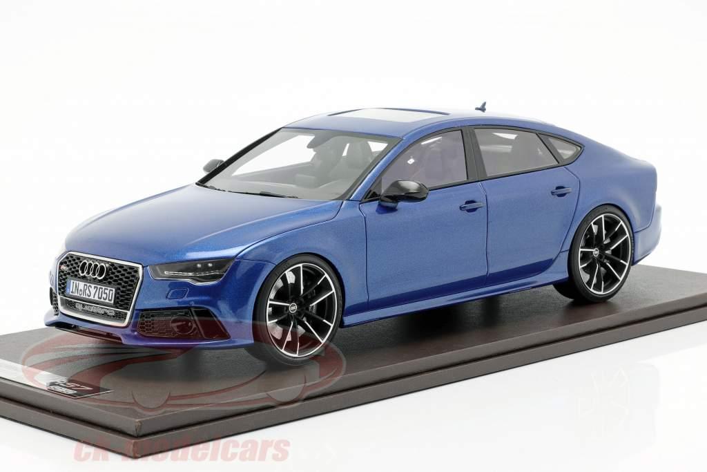 Audi RS7 Sportback Performance year 2016 sepang blue 1:18 MotorHelix