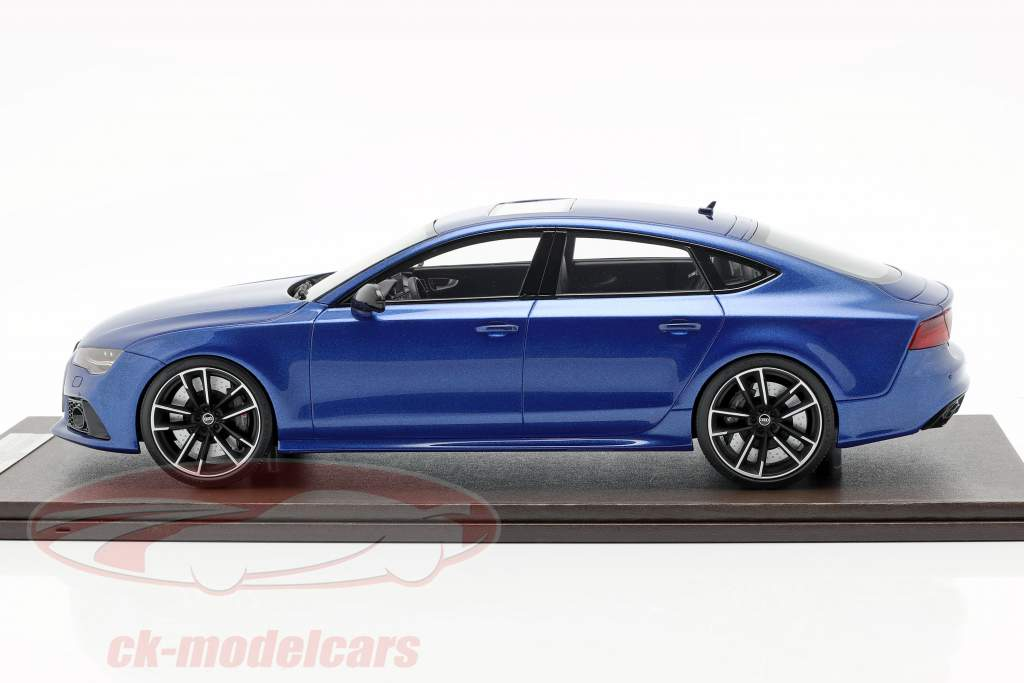 Audi RS7 Sportback Performance Bouwjaar 2016 Sepang blauw 1:18 MotorHelix