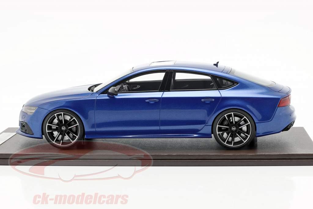Audi RS7 Sportback Performance Opførselsår 2016 Sepang blå 1:18 MotorHelix