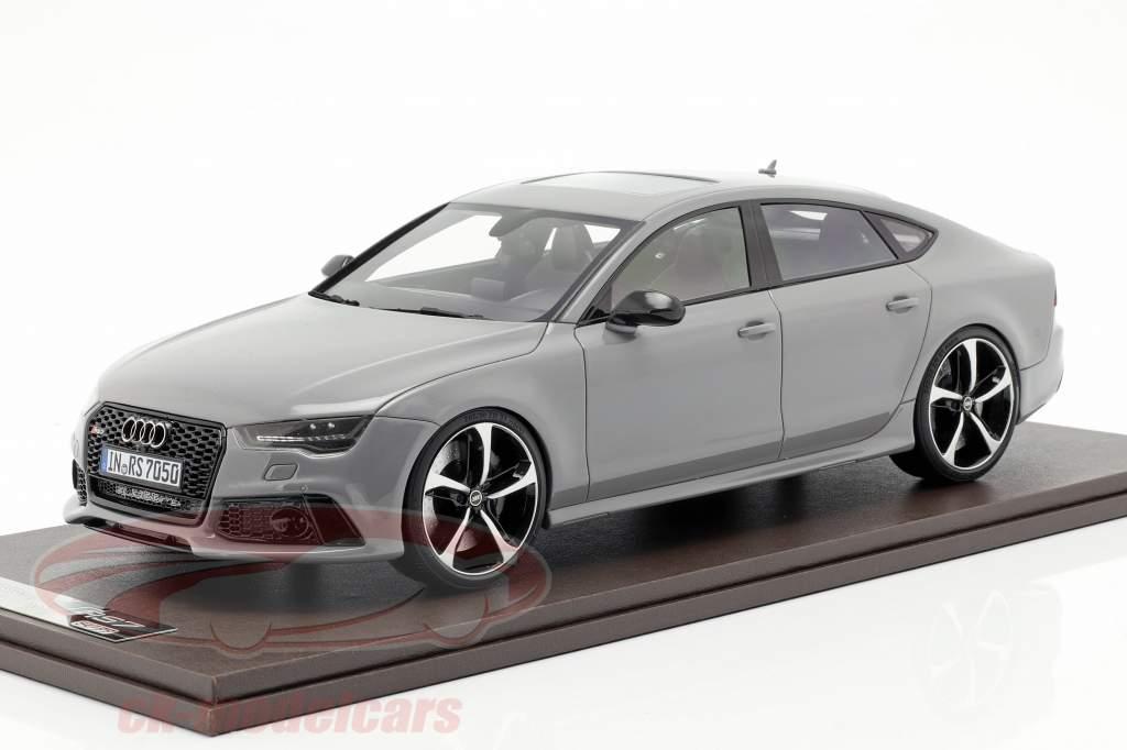 Audi RS7 Sportback Performance year 2016 nardo grey 1:18 MotorHelix