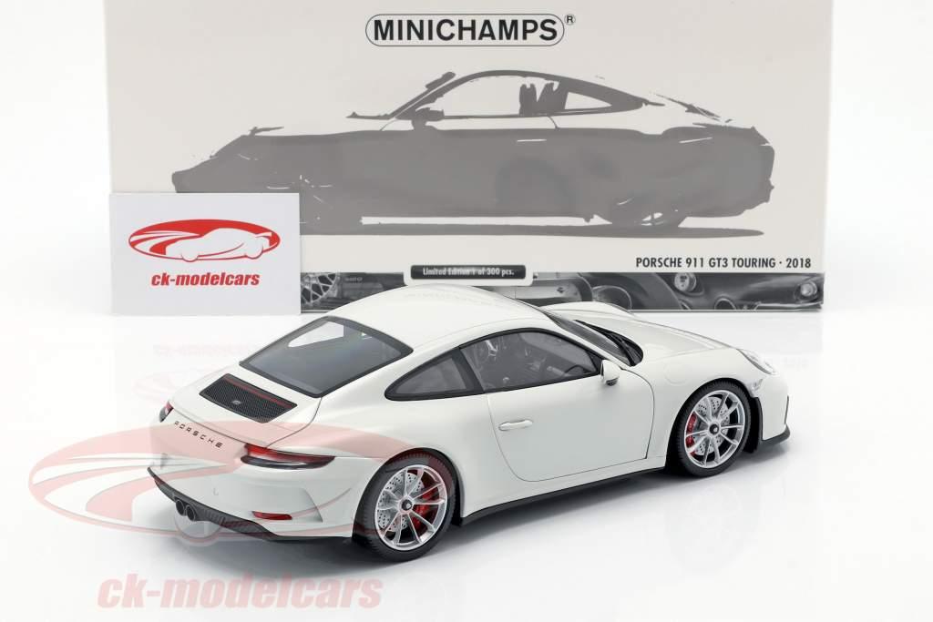 Porsche 911 (991 II) GT3 Touring Baujahr 2018 weiß 1:18 Minichamps