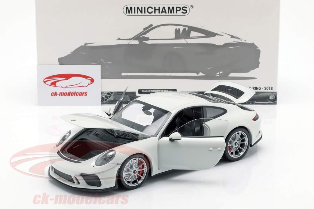 Porsche 911 (991 II) GT3 turismo año de construcción 2018 blanco 1:18 Minichamps