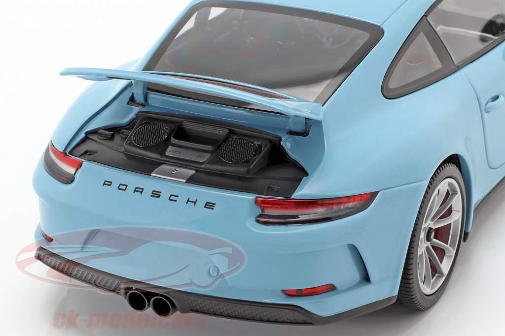 Porsche 911 (991 II) GT3 Touring année de construction 2018 bleu 1:18 Minichamps