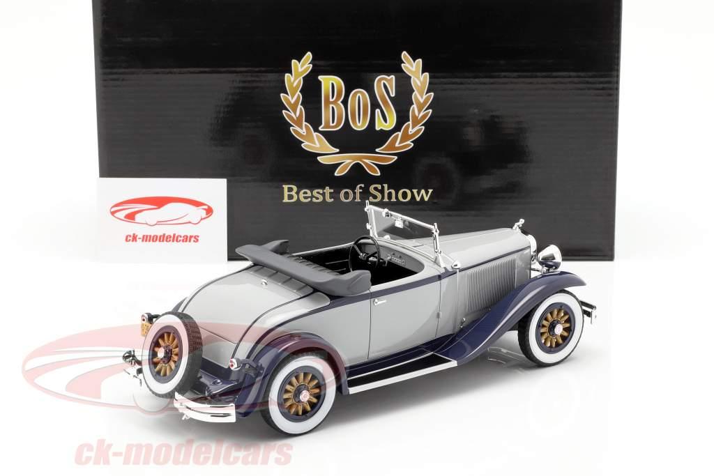 Dodge Eight DG Roadster conversível ano de construção 1931 azul cinzento-escuro 1:18 BoS-Models