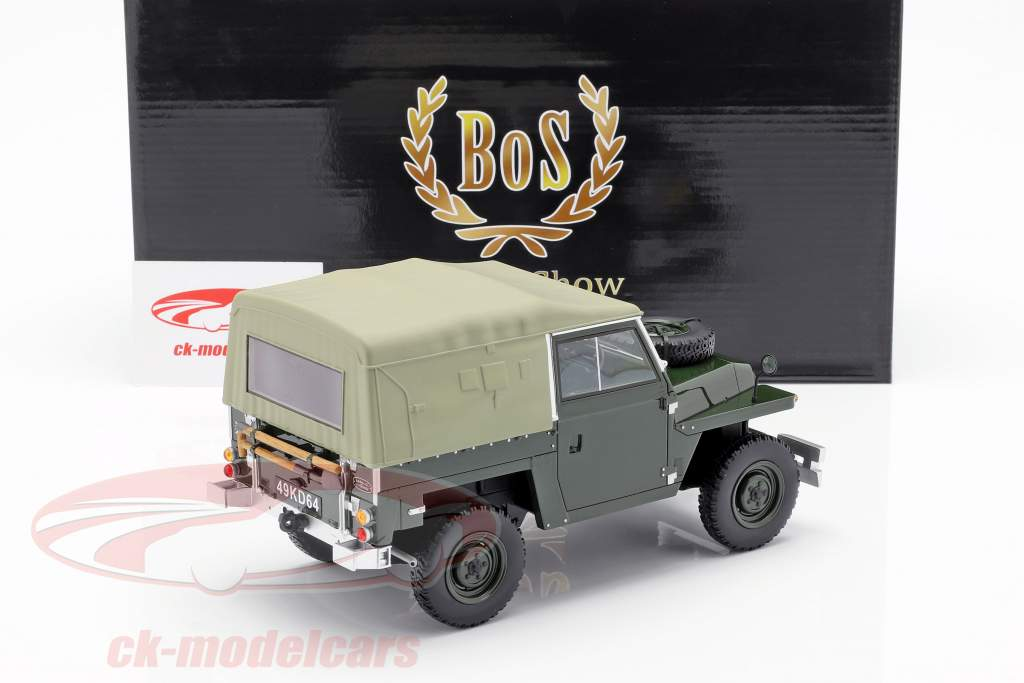 Land Rover Lightweight Series IIA Soft Top Bouwjaar 1968 donkergroen 1:18 BoS-Models