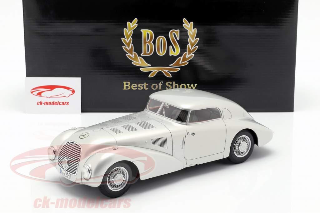 Mercedes 540K auto semplificata anno di costruzione 1938 argento 1:18 BoS-Models