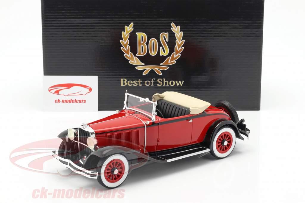 Dodge Eight DG Convertible anno di costruzione 1931 rosso / nero 1:18 BoS-Models