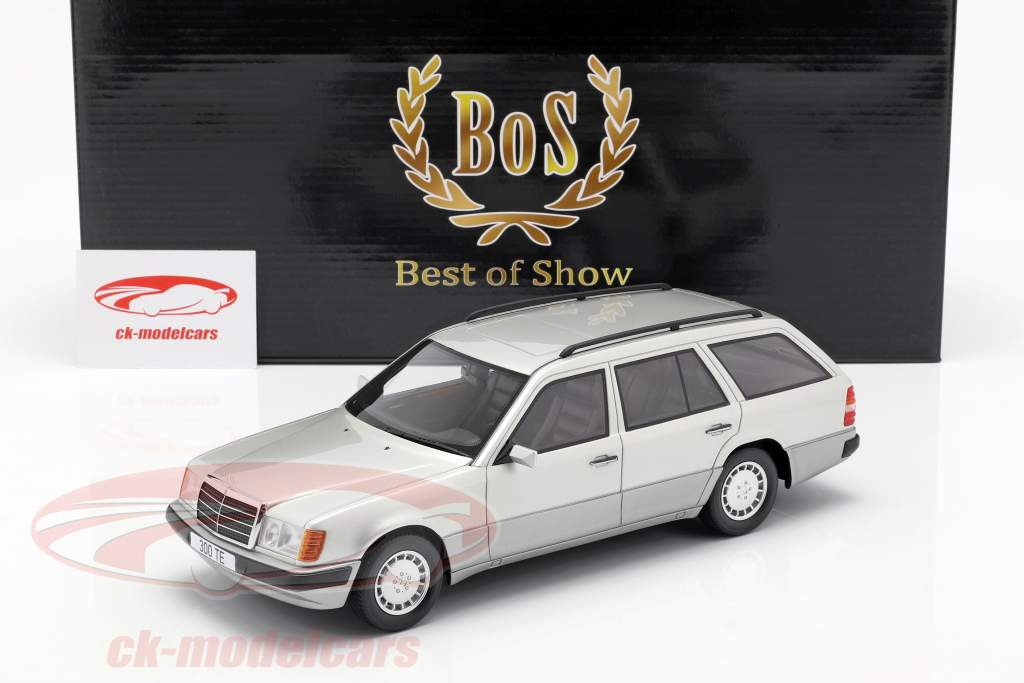 Mercedes-Benz 300 TE S124 year 1990 silver 1:18 BoS-Models