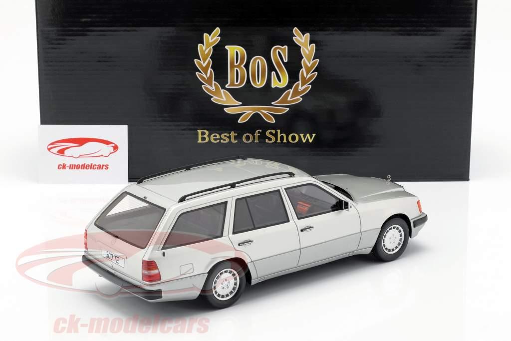 Mercedes-Benz 300 TE S124 Bouwjaar 1990 zilver 1:18 BoS-Models