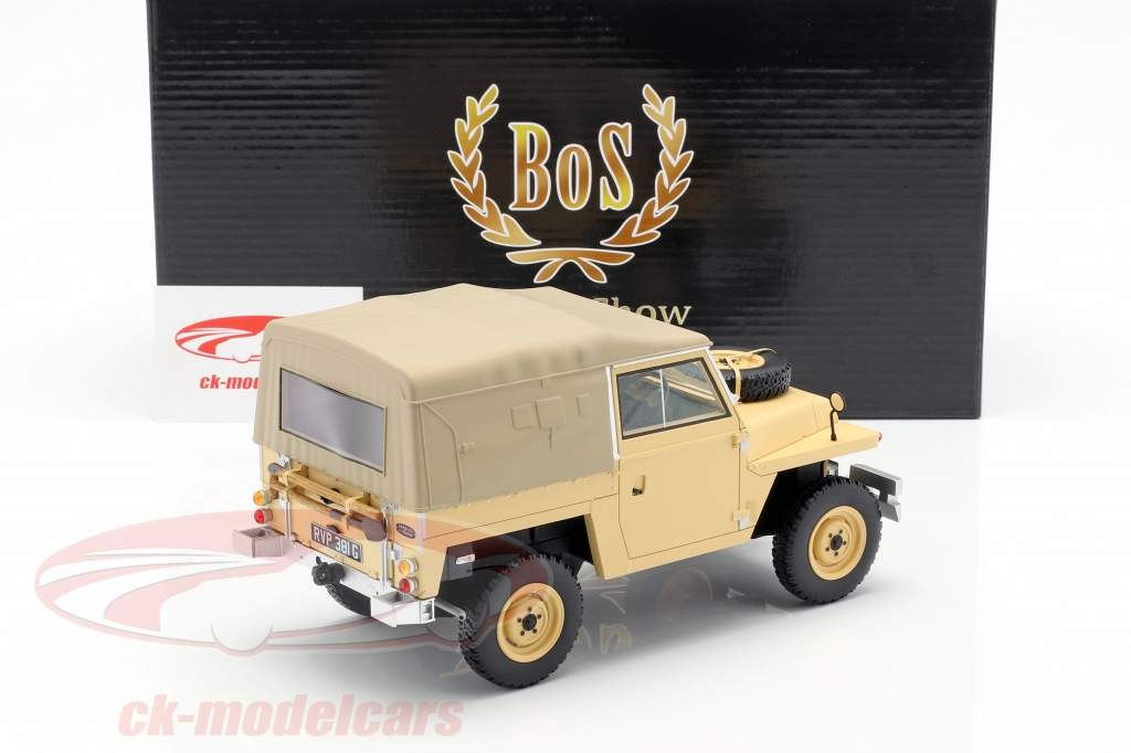 Land Rover Leightweight Series IIA Softtop RHD année de construction 1968 beige 1:18 BoS-Models