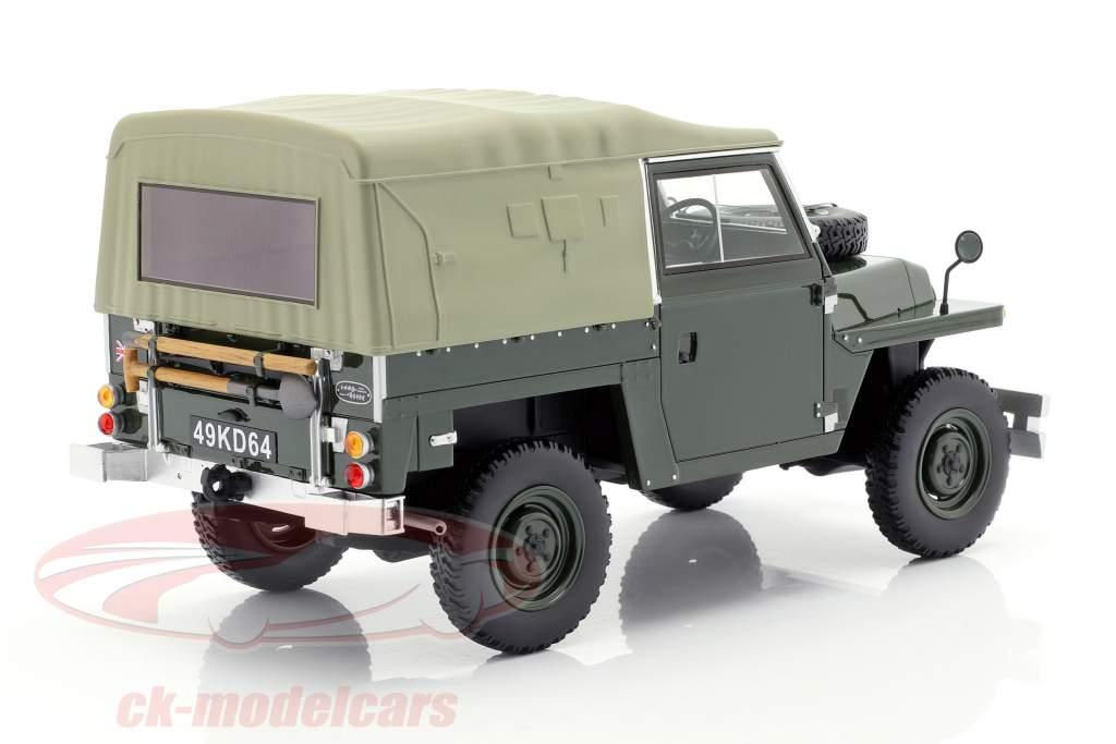 Land Rover Lightweight Series IIA Soft Top año de construcción 1968 verde oscuro 1:18 BoS-Models