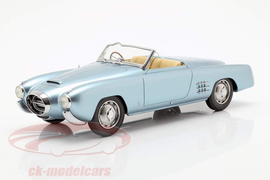 Lancia Aurelia PF 200 C Spider año de construcción 1953 metálica de color azul claro 1:18 BoS-Models