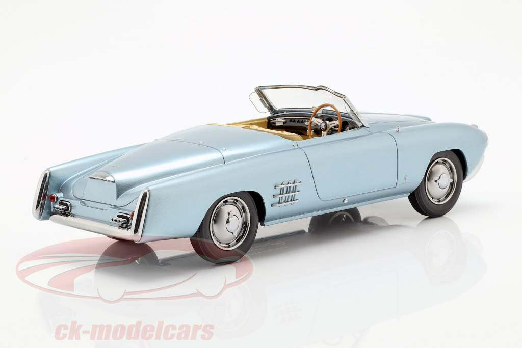 Lancia Aurelia PF 200 C Spider year 1953 light blue metallic 1:18 BoS-Models