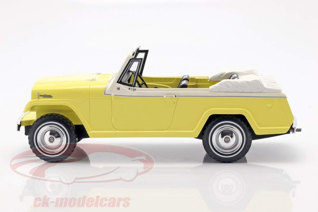 Jeep Jeepster Commando convertibile anno di costruzione 1970 giallo / bianco 1:18 BoS-Models