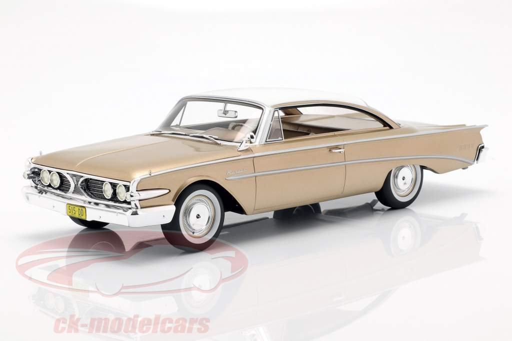 Edsel Ranger Hardtop anno di costruzione 1960 oro / bianco 1:18 BoS-Models