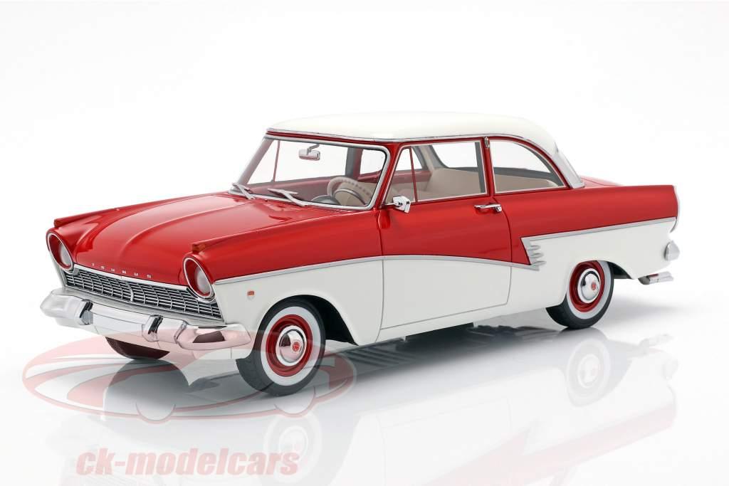 Ford Taunus 17M P2 Bouwjaar 1957 rood / wit 1:18 BoS-Models