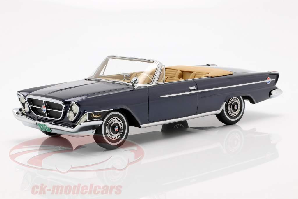 Chrysler 300 H Cabrio año de construcción 1962 Azul oscuro metalizado 1:18 BoS-Models