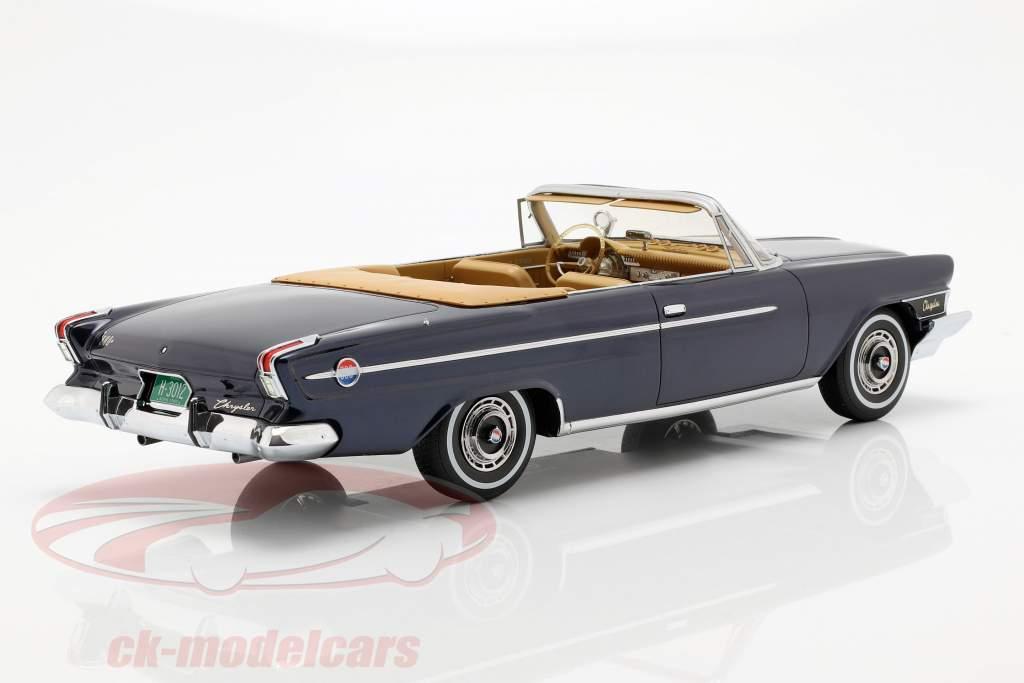 Chrysler 300 H Cabrio Opførselsår 1962 Mørk Blå Metallic 1:18 BoS-Models