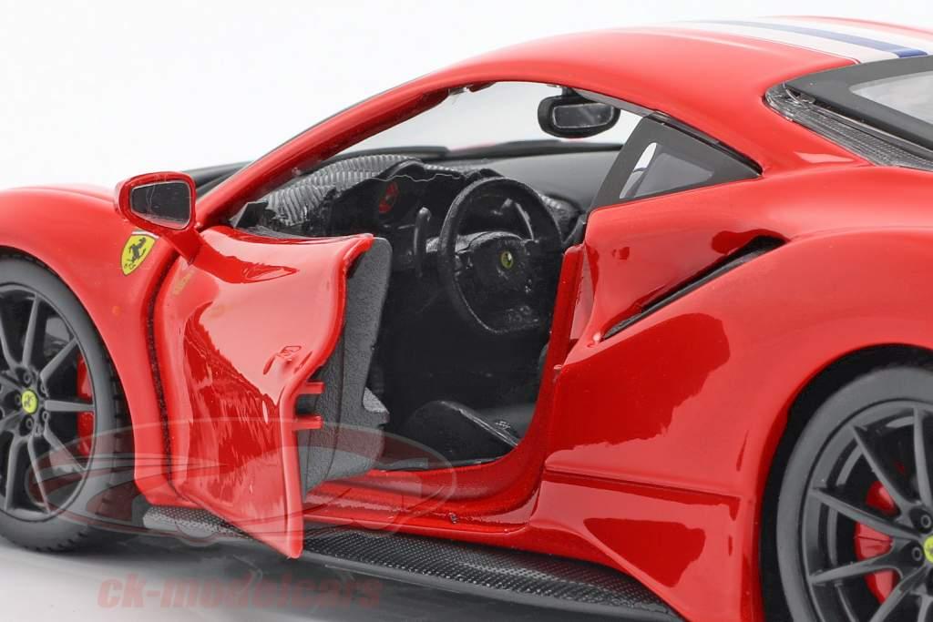 Ferrari 488 Pista ano de construção 2018 vermelho 1:24 Bburago