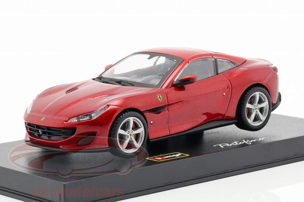 Ferrari Portofino year 2018 red metallic 1:43 Bburago Signature