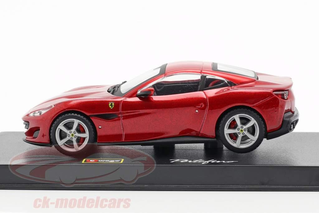 Ferrari Portofino année de construction 2018 rouge métallique 1:43 Bburago Signature