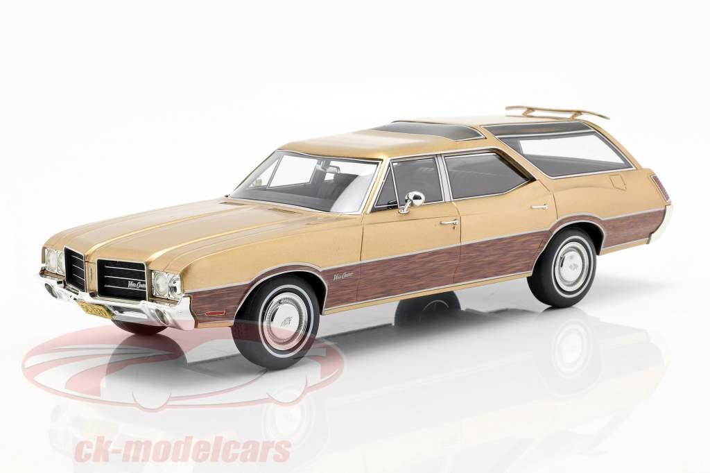 Oldsmobile Vista Cruiser Opførselsår 1971 guld metallic 1:18 BoS-Models