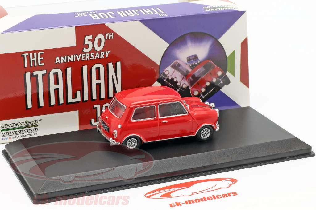 rot weiß 1:43 Greenlig Mini Cooper S Baujahr 2003 Film The Italian Job 2003
