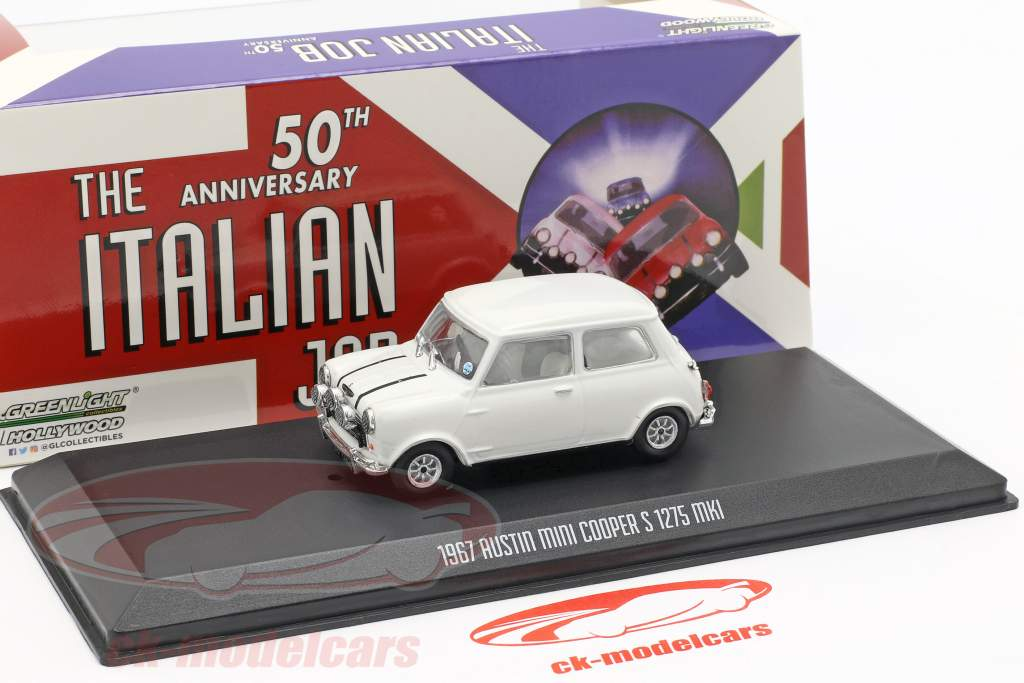 Austin Mini Cooper S 1275 MK1 1967 film The Italian Job (1969) wit 1:43 Greenlight