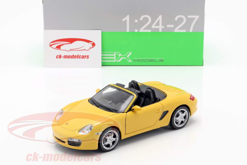 Porsche Boxster S (987) Cabriolet year 2012 yellow 1:24 Welly