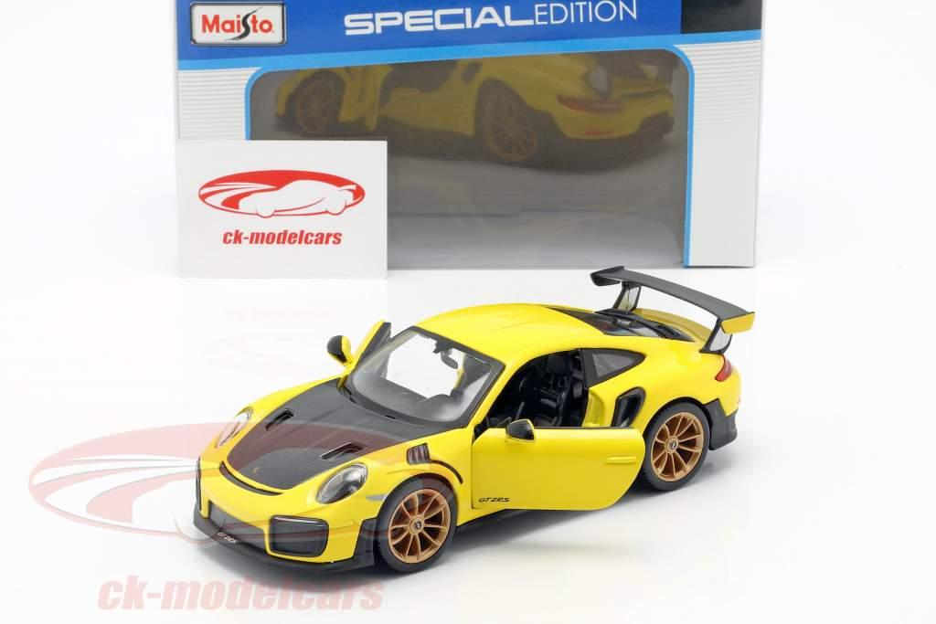 Porsche 911 (991 II) GT2 RS ano de construção 2018 amarelo / preto 1:24 Maisto