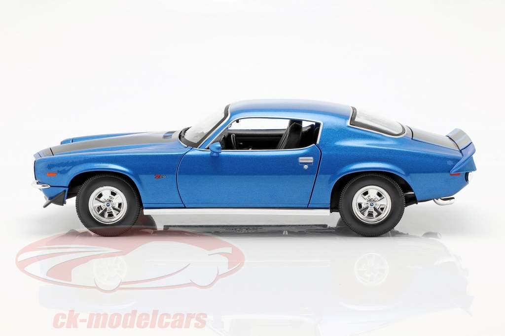 Chevrolet Camaro anno di costruzione 1971 blu metallico / nero 1:18 Maisto