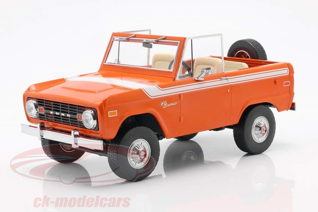 Ford Bronco ano de construção 1977 laranja / branco 1:18 Greenlight