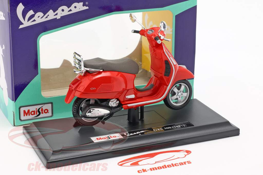 Vespa GTS 300 anno di costruzione 2017 rosso 1:18 Maisto