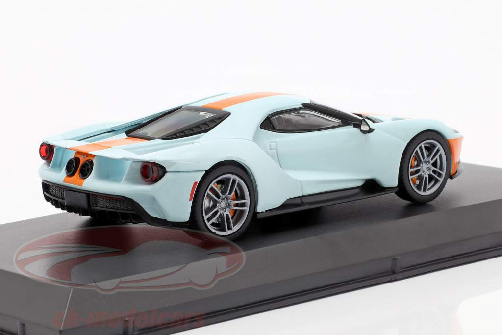 Ford GT Heritage Edition Gulf 2019 light blue / orange 1:43 Greenlight