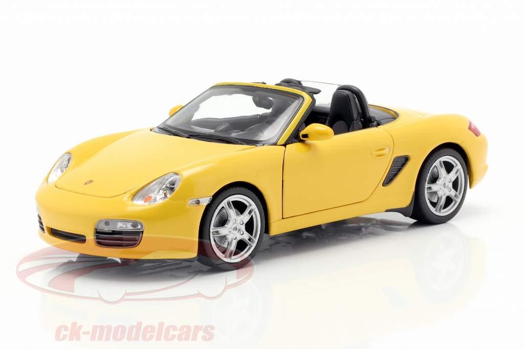 Porsche Boxster S (987) Cabriolet Opførselsår 2012 gul 1:24 Welly
