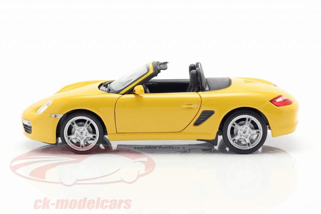 Porsche Boxster S (987) Cabriolet Baujahr 2012 gelb 1:24 Welly