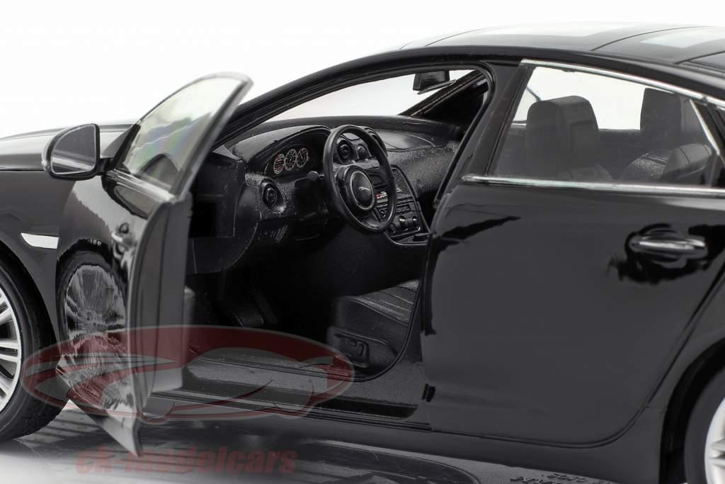 Jaguar XJ (X351) Bouwjaar 2010 zwart 1:24 Welly