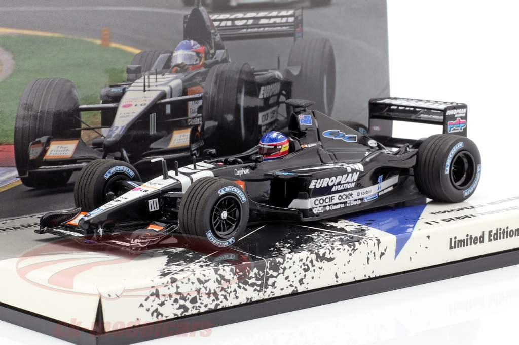Fernando Alonso Minardi PS01 #21 F1 Debut Australien GP 2001 1:43 Minichamps