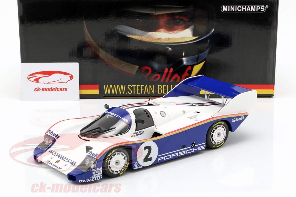 Porsche 956K #2 winnaar 1000km Sandown Park 1984 Bellof, Bell 1:18 Minichamps