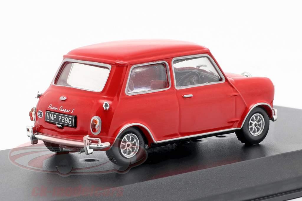 Austin Mini Cooper S 1275 MK1 1967 film The Italian Job (1969) rød 1:43 Greenlight