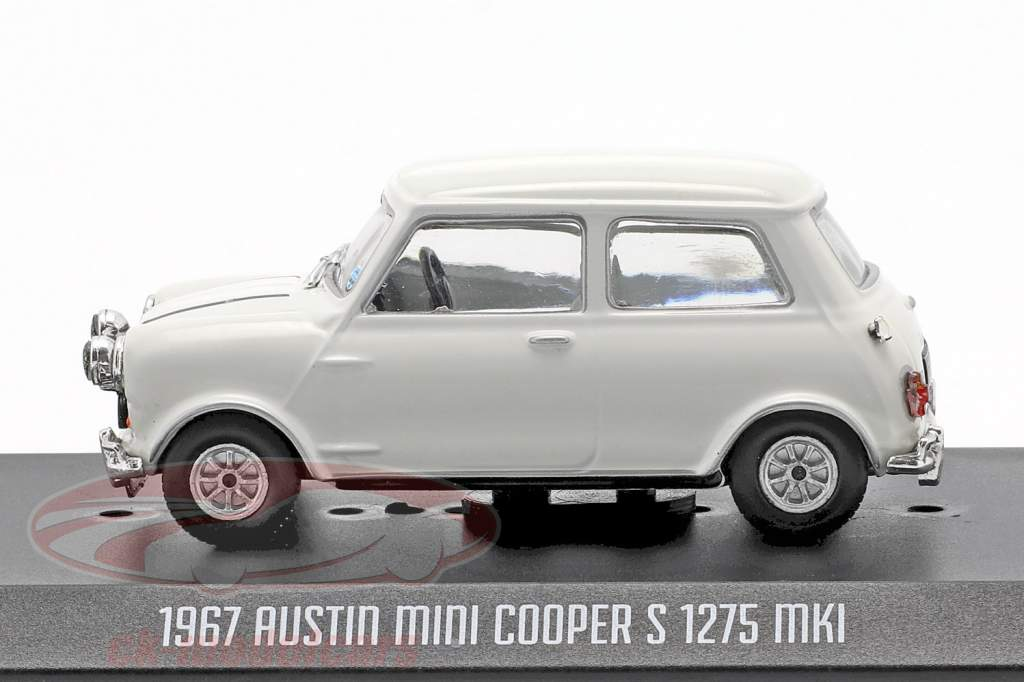 Austin Mini Cooper S 1275 MK1 1967 película The Italian Job (1969) blanco 1:43 Greenlight