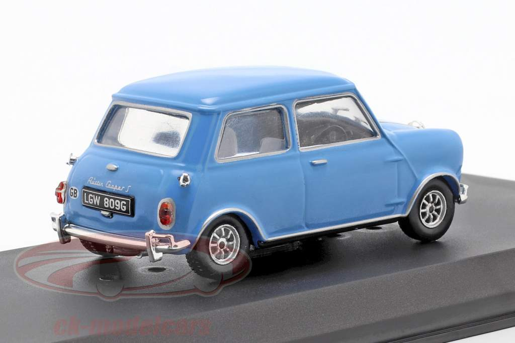 Austin Mini Cooper S 1275 MK1 1967 film The Italian Job (1969) bleu 1:43 Greenlight