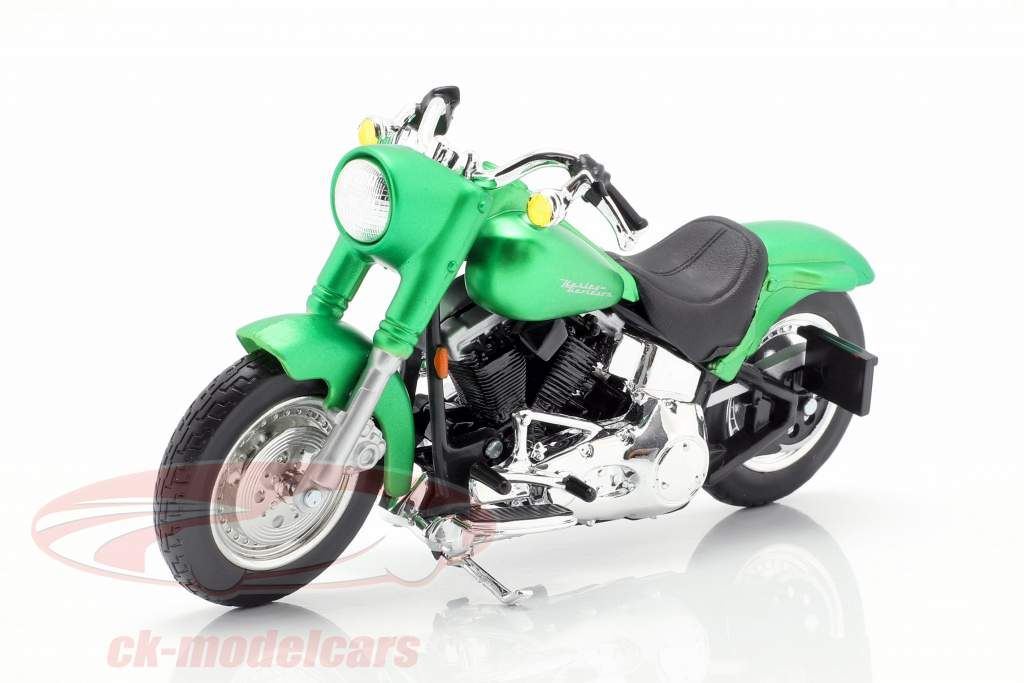 Harley-Davidson FLSTF Street Stalker anno di costruzione 2000 tappetino verde metallico 1:18 Maisto