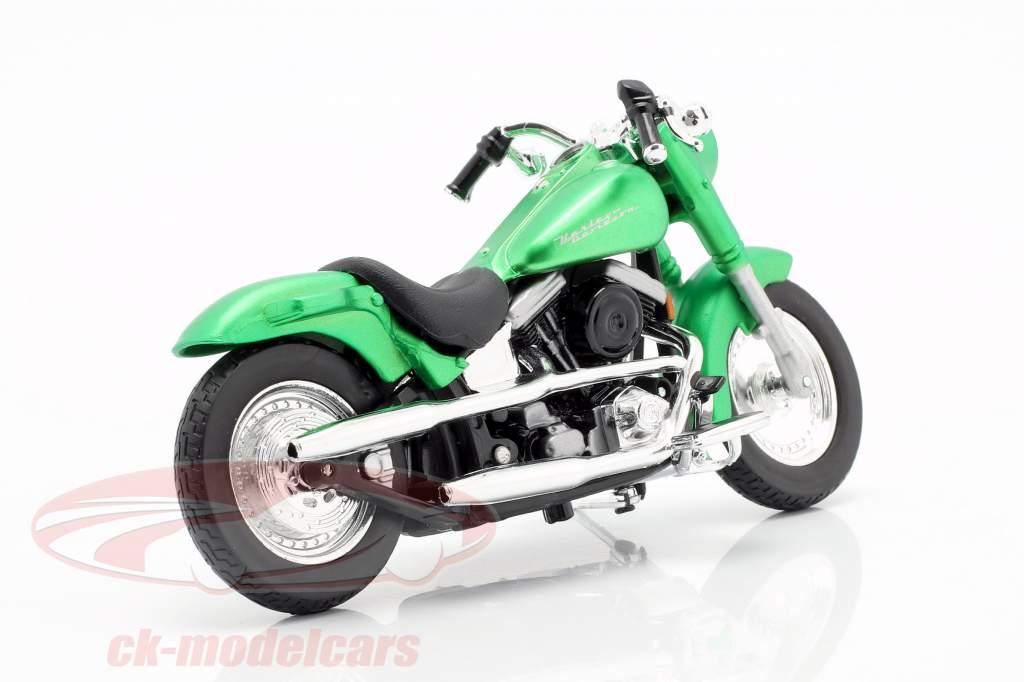 Harley-Davidson FLSTF Street Stalker ano de construção 2000 esteira verde metálico 1:18 Maisto