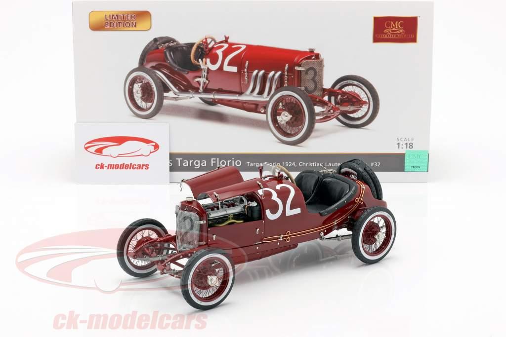 Mercedes #32 2e Targa Florio 1924 Lautenschläger, Traub 1:18 CMC