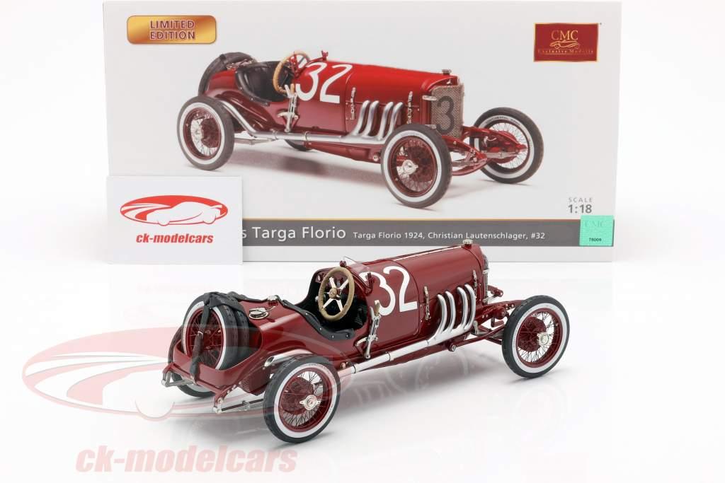 Mercedes #32 segundo Targa Florio 1924 Lautenschläger, Traub 1:18 CMC
