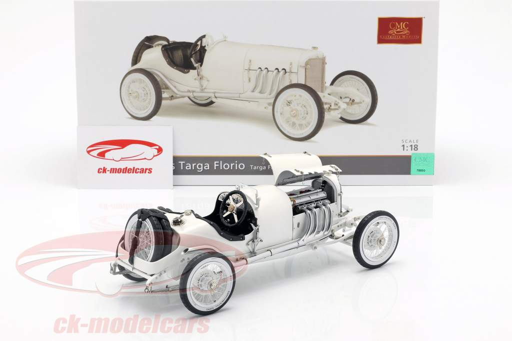 Mercedes Plain Body Version Targa Florio 1924 wit 1:18 CMC