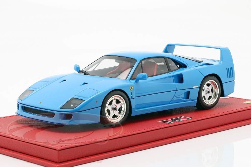 Ferrari F40 Bouwjaar 1987 chiaro blauw 1:18 BBR
