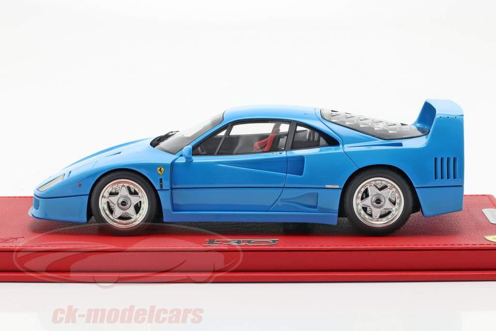 Ferrari F40 Opførselsår 1987 chiaro blå 1:18 BBR